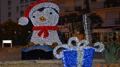 Déco de Noël à Cavalaire en 2016