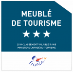 Logo Meublé de Tourisme 3 étoiles